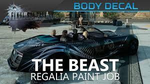 final fantasy xv the beast body decal location u0026 showcase youtube