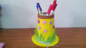 creative ideas how to make a hat pencil holder for