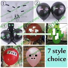 minecraft party decorations aliexpress buy minecraft balloons tnt balloons