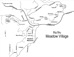 Big Sky Montana Map by Big Sky Meadow Village Real Estate Big Sky Real Estate Group