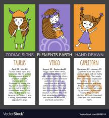 zodiac cards set of 3 cards zodiac signs royalty free vector image