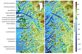 Map Of Northwest Florida by Nasa U0027s Omg Mission Maps Sea Floor Depth Off Greenland U0027s Coast Nasa
