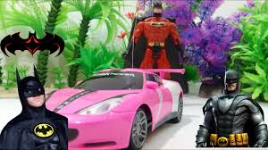 pink kid car car toys for children batman rescues red cars from the other