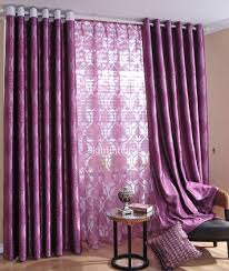 Purple Bedroom Curtains Interior Purple Curtain With Charming Armchair For