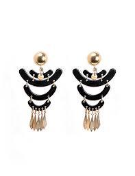 gold chandelier earrings black and gold chandelier earrings marilyn s