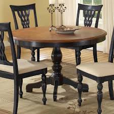 Solid Oak Pedestal Dining Table Hillsdale Embassy Round Pedestal Table With 48 Inch Pattern Veneer