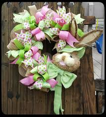 Easter Decorations With Deco Mesh by 11 Best Easter Wreaths Images On Pinterest Easter Wreaths
