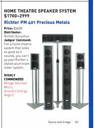 good home theater speakers news awards u0026 reviews richter audio