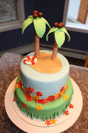hawaiian luau hawaii decorated cake decorated cakes