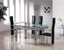 glass and chrome dining table expandable glass dining tables best extendable dining table glass