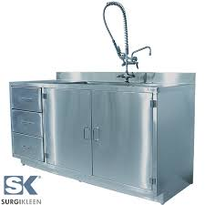 free standing kitchen sink cabinet stainless steel cabinets with sinks surgikleen quality