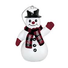 harvard top hat snowman ornament