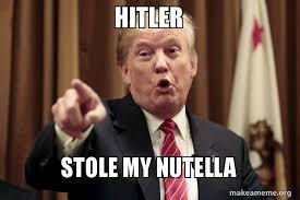 Nutella Meme - hitler stole my nutella donald trump says make a meme