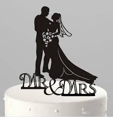 10 kind design black acrylic funny bride groom mr mrs love cake