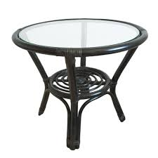 wicker side table with glass top charming wicker tables glass top patio table white dining with