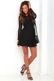 sleeve black dress in hot dot ter sleeve black dress lbd clothes and wardrobes