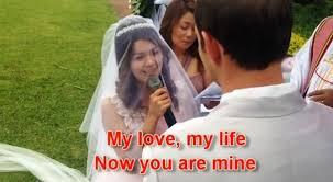 Wedding Dress English Version Yeng Constantino U0027s U0027ikaw U0027 Sang In English By Bride On Her Wedding