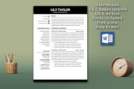 resume format on mac word templates modern resume template instant download cv how to a on word 1 page