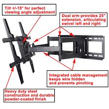 heavy duty speaker wall mounts full motion tv wall mount for vizio samsung40 42 47 48 50 55 60 65