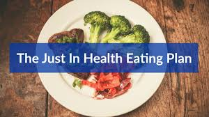 Map Diet The Just In Health Eating Plan The Meal Map Youtube