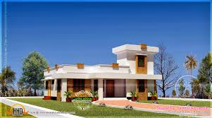 flat roof style single storied house kerala home design and