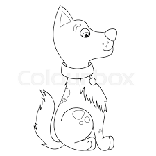 cartoon smiling puppy vector illustration of cute funny modest