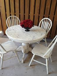 captivating shabby chic round dining table and chairs luxury