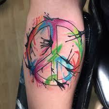 55 best peace sign tattoo designs anti war movement symbol 2018