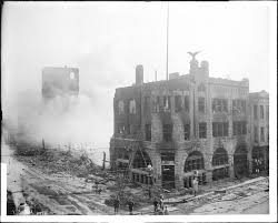 file los angeles times building after the bombing disaster on
