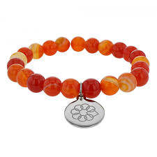 red bead bracelet images Embrace the difference red and orange agate bead bracelet jpg