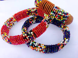 bangle beaded bracelet images Assorted african beaded bracelets wholesale only made in jpg