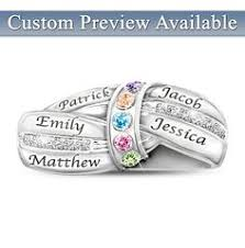 day rings personalized my family my personalized ring set silver ring sterling