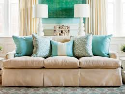 Where To Put Sofa In Living Room How To Arrange Sofa Pillows Southern Living