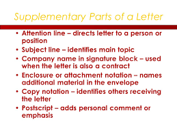 letter with attention line and subject line chapter 6 message formats learning objective 1 describe the seven