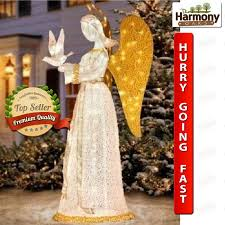 Christmas Yard Decorations Yard Christmas Angel Lighted Decoration Outdoor Decor Vintage Dove