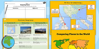 usa map ks2 ks2 geography comparing places lesson teaching pack compare