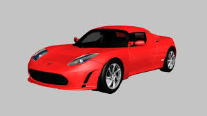 tesla roadster sport 3d model tesla roadster cgtrader