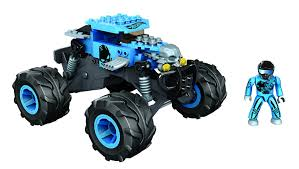 bad to the bone monster truck video amazon com mega bloks wheels baja bone shaker toys u0026 games