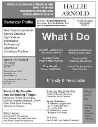 Mixologist Resume Example by Examples Of Bartending Resumes Bartender Resume Example