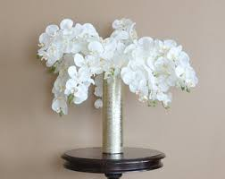 Fake Flowers For Home Decor Orchid Centerpiece Etsy