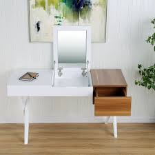 White Lacquer Desk by Savy White Lacquer High Gloss Walnut Melamine Desk Vanity With