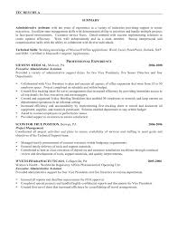 summary on a resume resume summary exles administrative assistant exles of resumes
