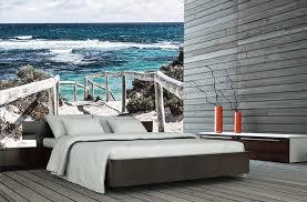 papier peint trompe l oeil pour chambre poster mural trompe l oeil bord de mer dune plage et fin