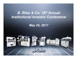 cohu cohu presents at 18th annual b riley u0026 co institutional