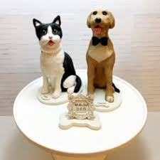 initial wedding cake topper with silhouette and dog cat mr mrs
