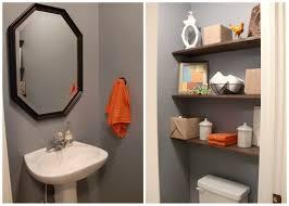 modern style small bathroom ideas bold paint color scheme home