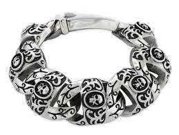 skull link bracelet images Stainless steel marina skull link bracelet badass jewelry jpg