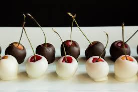 fruit dipped in chocolate white and chocolate dipped rainier cherries the fruit