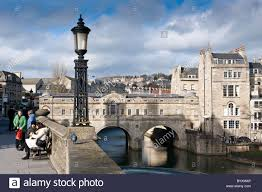Somerset England Map Pulteney Bridge The City Of Bath Somerset England Stock Photo
