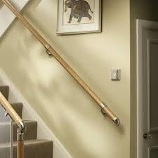 chrome banister rails fusion white oak with chrome connectors handrail kit jackson